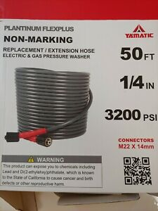 YAMATIC -  Platinum Flexiplus Non-Marking Replacement Hose for Pressure Washer