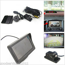 Versatility Radar Sensor Cars Reverse Backup CCD Camera Color LCD HD Screen Kit