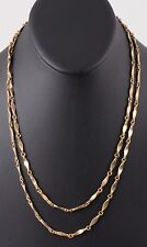 FASHION GOLDTONE CHAIN LINK NECKLACE COSTUME 2234B