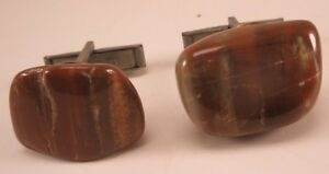 Red Agate Stone Vintage Cuff Links gift
