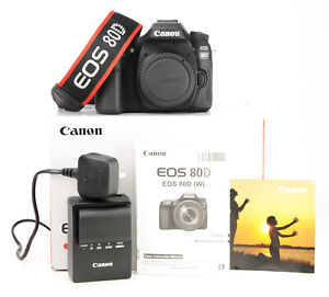 Canon 80D Camera Body Only - Boxed Battery & Charger 1,120 Shots WiFi +1080p EXC