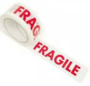 1 X 100mx48mm EXTRA LONG ROLL FRAGILE STRONG PARCEL TAPE FOR DELIVERY PACKING