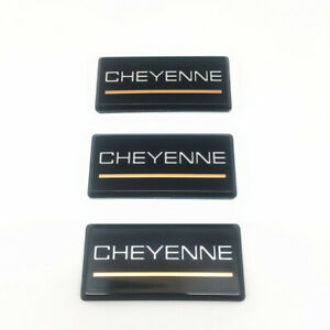 Fit 88-98 Chevrolet Cheyenne 3pc Roof Pillar Cab Emblem Badge Nameplate Side New