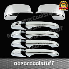 FOR DODGE Journey 2009-2012 4DRS handl w/o PSKH+mirror 2pc CHROME COVERS