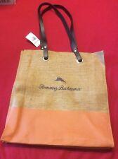 Tommy Bahama Tote Bag Woven Natural Shopping Beach