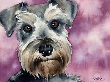 New listing Miniature Schnauzer Painting Dog 8 x 10 Art Print by Artist Djr