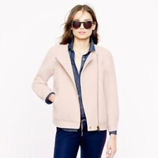 J.Crew Double-cloth motorcycle jacket BEIGE STONE Size 6 $298 original