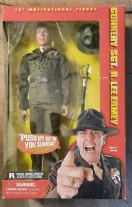 """Gunnery Sgt. R. Lee Ermey 12"""" Talking Figure new by Sideshow Toy 2001"""