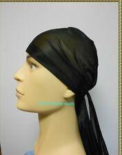 black Wave Cap  sport hip hop du doo rag durag SKULL CAP HAT Nylon Tie Down tail