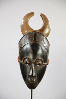AR3 Guro Baule Maske alt Afrika / Masque Gouro ancien / Old tribal mask Africa