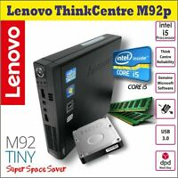Lenovo ThinkCentre M92p Intel i5-3rdGen 8GB RAM 500HDD Micro PC Win-10pro Wi-Fi