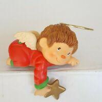Vintage 80s Baby Angel Shelf Sitter Halo Wings Star