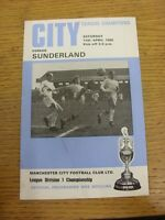 12/04/1969 Manchester City v Sunderland  (slight fold). Thanks for viewing this