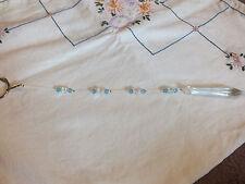 "Crystal Suncatcher Dazzeling Clear Blue AB Handmade 9"" Long Arrow Prizm"