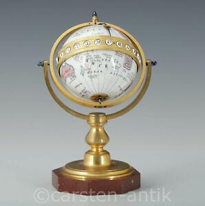 """Seltene Chronosphere Globus Uhr """"sphère mouvante"""" Redier à Paris 1870 Museal"""