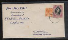 Malaya, Malacca     27   on  Coronation cover  1953      MR1001