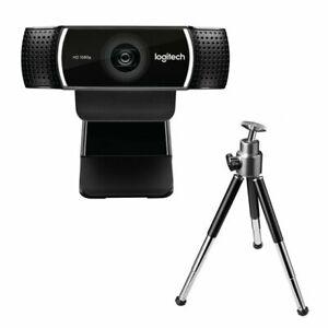 OB Logitech C922 Pro Stream HD Webcam - Black (960-001087) W/ Tripod