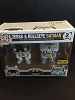 Excellent Condition Zebra and Bullseye Batman 2-Pack Hot Topic Exclusive Funko