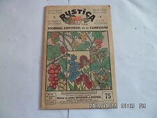 RUSTICA N°41 10/10/1937 GROSEILLIER NOISETIER EXPO DE 1937 COQ COMBATTANT   G14
