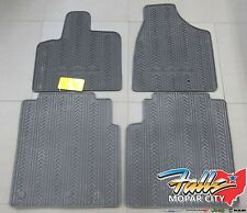 2013-2017 Dodge Grand Caravan Rubber All Weather Slush Floor Mats Mopar OEM