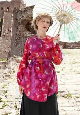 """BNWOT Gudrun Sjoden """"Xiang"""" cotton satin long shirt / tunic size L Art to WEAR"""