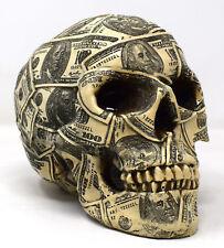 Made Of Money Skull Money Coin Box Saving Pot Piggy Bank Funds Ornament Gift