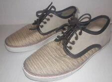 Aldo Men's Casual Shoes Burlap Size 7.5 Brown Tan Sneakers