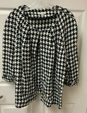 NWT Kim Rogers Black White Houndstooth Lightweight Jacket Women's 2x Free Shipng