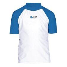 UV Shirt Sonnenschutz Kinder Gr. 158 Blau-Weiß