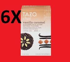 6 Boxes of Tazo Vanilla Caramel - Herbal Tea - 20 Tea Bags - NEW