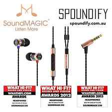 Gold SoundMAGIC E10C In Ear Isolating Earphones Mic & Volume - Update of SM E10S