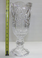 "Clear Crystal 14"" Vase believed to be Shannon Crystal - Very Heavy"
