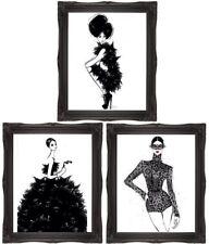 Coco Themed Art Fashion Art Wall Art Black & White Art Black Lace Dress