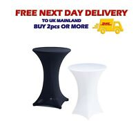 Stretch COCKTAIL TABLE COVER Poseur Dry Bar Spandex Cloth Wedding Party UK