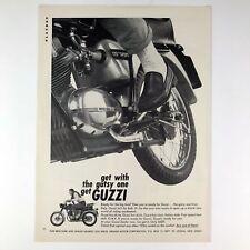 1966 Moto Guzzi 125cc Sport Motorcycle Vintage Photo Print Magazine Ad