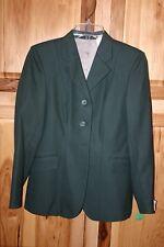 Elite Hunt Show Coat Green Herringbone Pattern Ladies 10R Wool Riding Jacket NEW