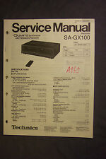 Technics SA-GX100 AM/FM Stereo Receiver Service Manual