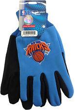 NWT NBA New York Knicks No Slip Gripper Utility Work Gloves Team Logo NEW