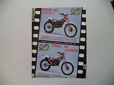 advertising Pubblicità 1987 MOTO FANTIC TRIAL 50 PROGRESS 1/TRIAL 50 JUNIOR