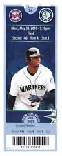 Ken Griffey Jr. LAST GAME Seattle Mariners 5/31 Ticket