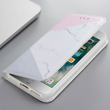 Fashion Marble Rock Pattern Leather Wallet Flip Case Cover For iPhone 8 6s 7 X