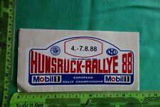 Alter Aufkleber HUNSRÜCK-RALLYE 1988 AvD STH MOBIL 1