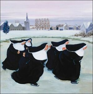 Charity Christmas Cards Pack Of 5 Winter At The Convent