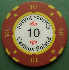 PL - Casinos Poland - 10 - old casino gambling chip
