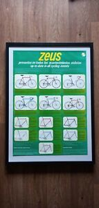 Very Rare Vintage Zeus Cycling Poster.