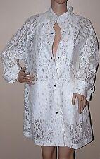 New $598 ELIE TAHARI Ivory Lace Rain Coat Ashton medium