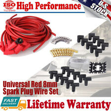 Super Performance Universal Fit Spark Plug Wire Set 8mm Silicone 8 Cylinder 4041