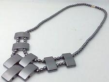 Collana Donna Ematite Elegante Girocollo Cristallo terapia Alchimia delle Pietre