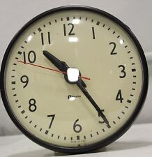 "Vintage Simplex 804-100 A 9"" Commercial School Electric Round Wall Clock"