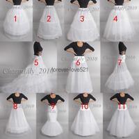 Wedding petticoat WHITE BRIDAL underskirt crinoline prom dress bridal slip skirt